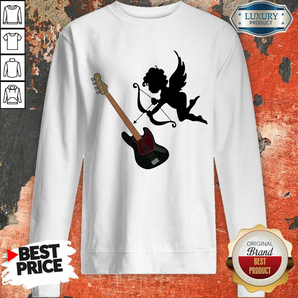 Reluctant Cupid Angles 1 Guitar Sweatshirt - Design by T-shirtbest.com