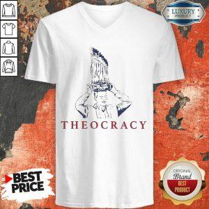 Terrific Chicago Bears 2 Theocracy V-neck - Design by T-shirtbest.com