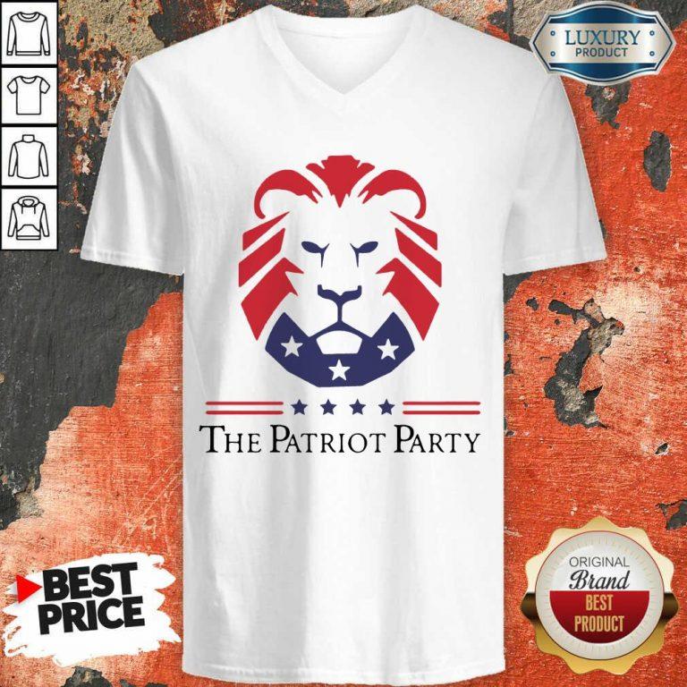 Terrific New Patriot Party Pride 2021 America V-neck - Design by T-shirtbest.com