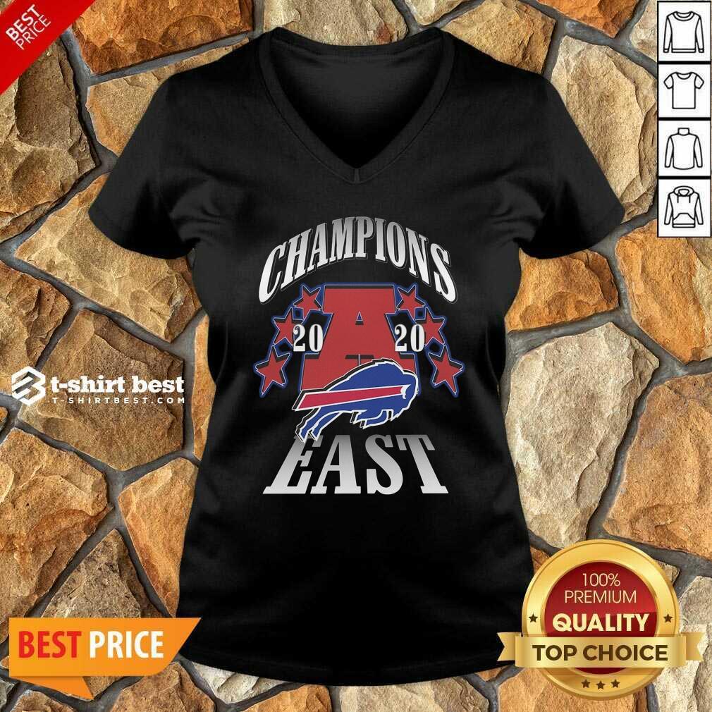 Champions 2020 Buffalo Bills East V-neck - Design By 1tees.com