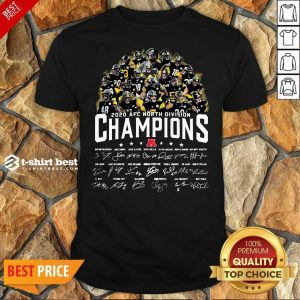 Pittsburgh Steelers 2020 AFC North Division Champion Signatures Shirt - Design By 1tees.com