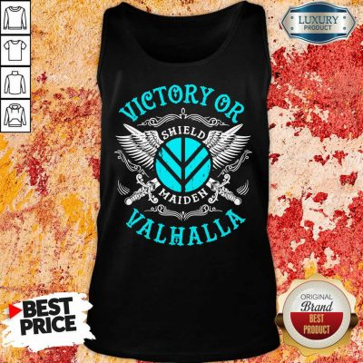 Unhappy Victory Or Valhalla Shield Maiden 7 Tank Top