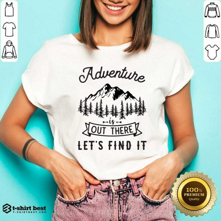 Adventure Is Out There 5 Find It V-neck - Design by T-shirtbest.com