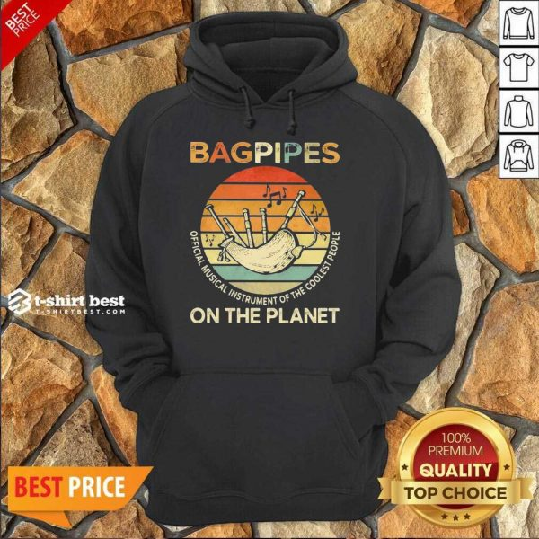 Bagpipes Musical Instrument 4 On The Planet Hoodie - Design by T-shirtbest.com