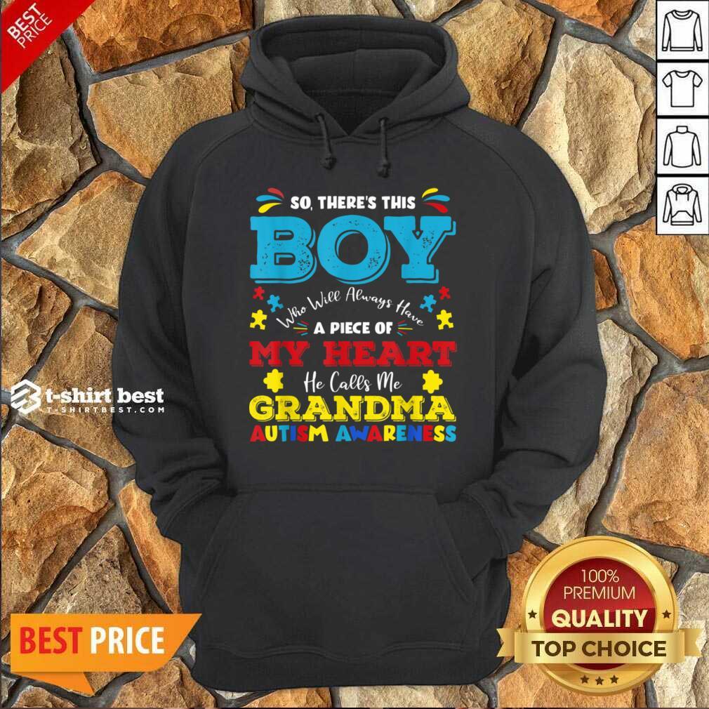 Boy Calls Me Grandma 9 Autism Awareness Hoodie - Design by T-shirtbest.com