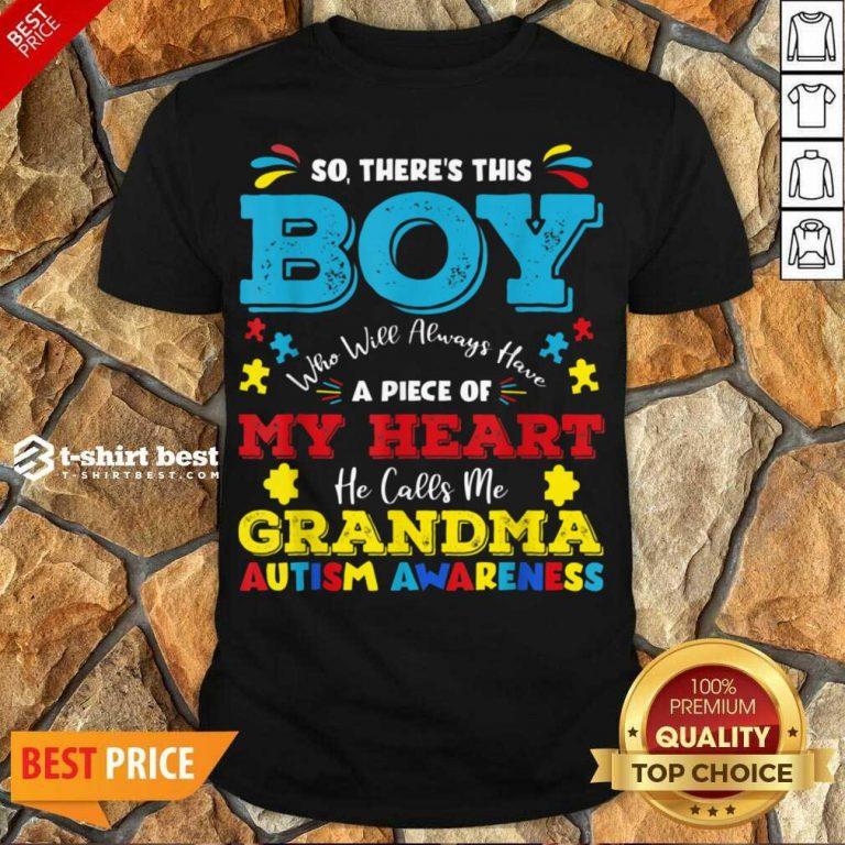 Boy Calls Me Grandma 9 Autism Awareness Shirt - Design by T-shirtbest.com
