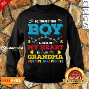Boy Calls Me Grandma 9 Autism Awareness Sweatshirt - Design by T-shirtbest.com