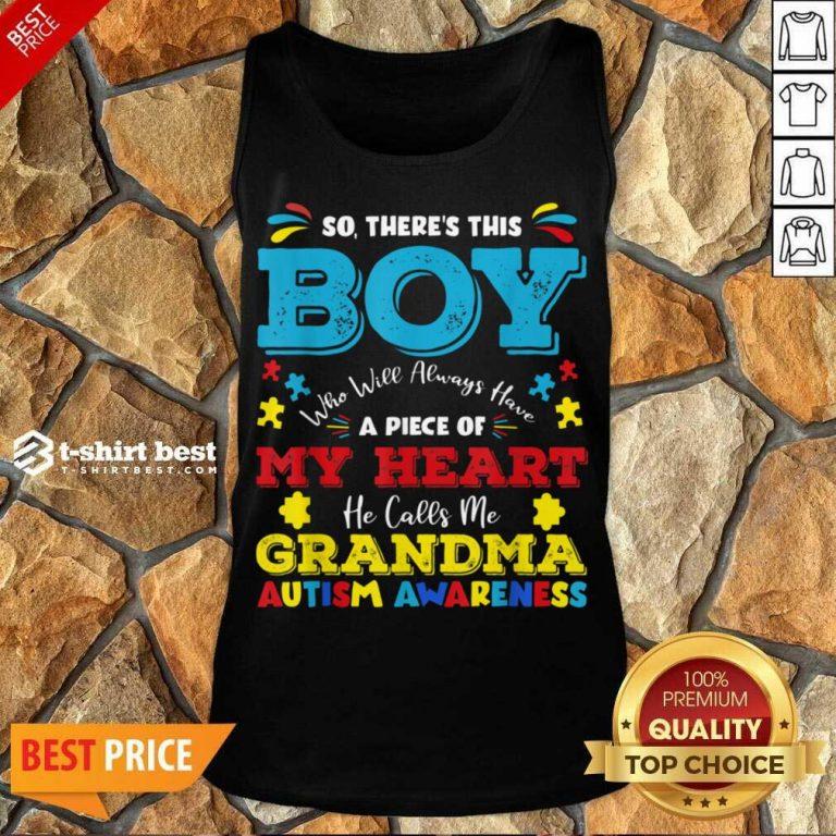 Boy Calls Me Grandma 9 Autism Awareness Tank Top - Design by T-shirtbest.com