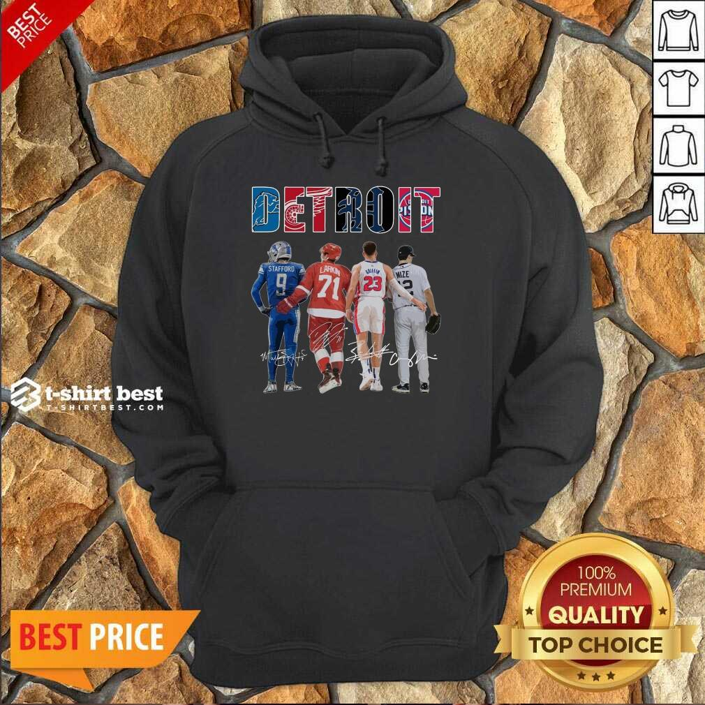 Detroit 4 Stafford Larkin Griffin Mize Signatures Hoodie - Design by T-shirtbest.com