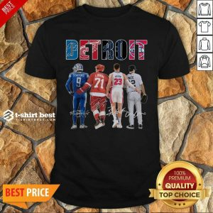 Detroit 4 Stafford Larkin Griffin Mize Signatures Shirt - Design by T-shirtbest.com