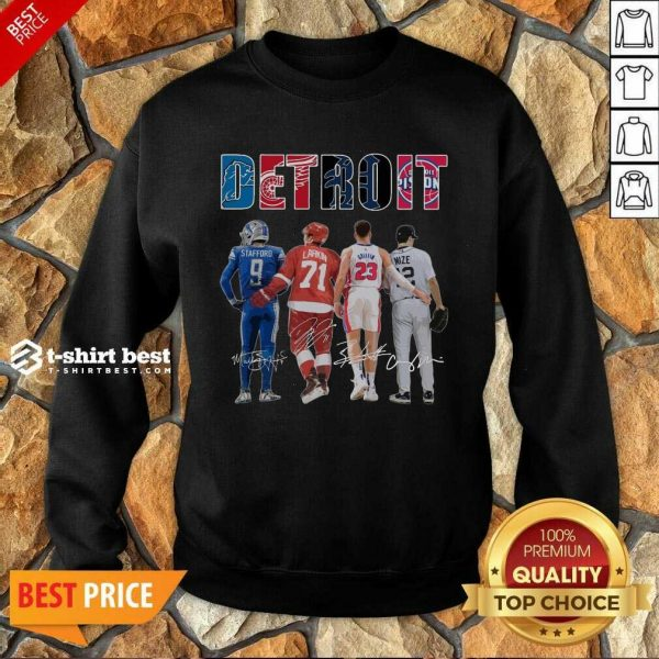 Detroit 4 Stafford Larkin Griffin Mize Signatures Sweatshirt - Design by T-shirtbest.com