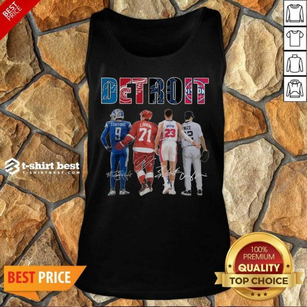 Detroit 4 Stafford Larkin Griffin Mize Signatures Tank Top - Design by T-shirtbest.com