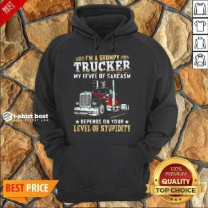 I Am A Grumpy Trucker 5 Level Of Stupidity Hoodie - Design by T-shirtbest.com