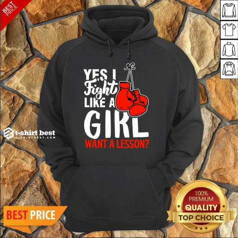 I Fight Like A Girl 1 Boxing Hoodie - Design by T-shirtbest.com