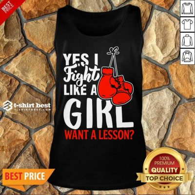 I Fight Like A Girl 1 Boxing Tank Top - Design by T-shirtbest.com