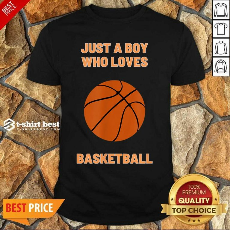 Just A Boy Who Loves 1 Basketball Shirt - Design by T-shirtbest.com