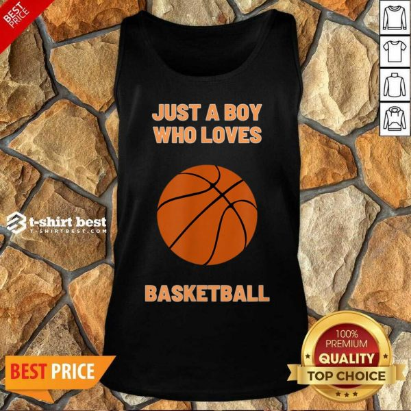 Just A Boy Who Loves 1 Basketball Tank Top - Design by T-shirtbest.com