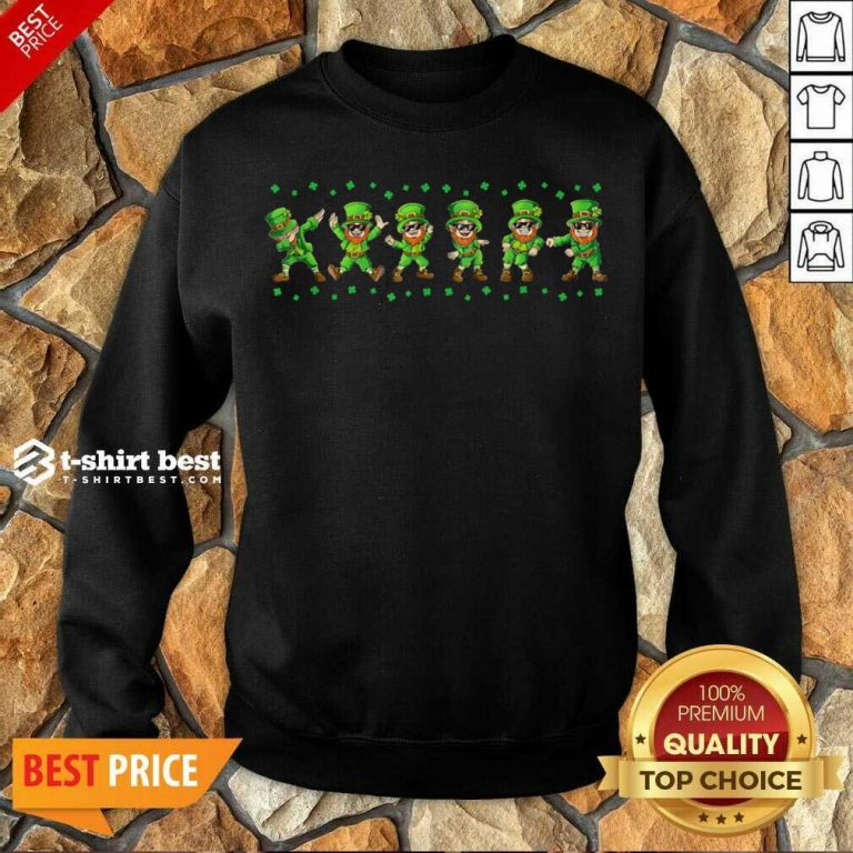 Leprechauns 6 Dancing St Patricks Day Sweatshirt - Design by T-shirtbest.com
