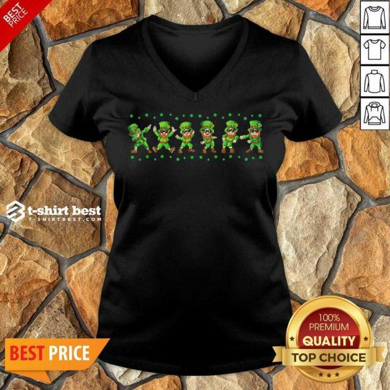 Leprechauns 6 Dancing St Patricks Day V-neck - Design by T-shirtbest.com