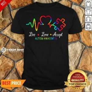 Live Love Accept 2 Autism Awareness Tie Dye Shirt - Design by T-shirtbest.com