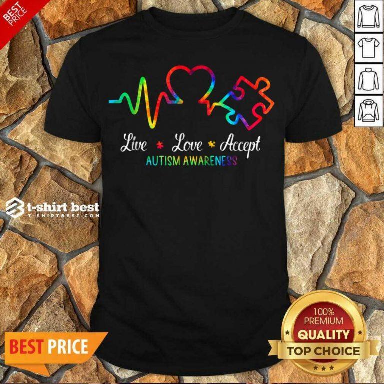 Live Love Accept 2 Autism Awareness Tie Dye Shirt - Design by T-shirtbest.com