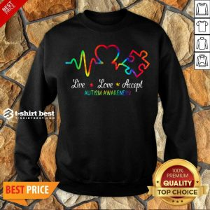 Live Love Accept 2 Autism Awareness Tie Dye Sweatshirt - Design by T-shirtbest.com