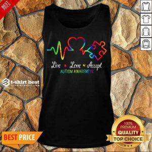 Live Love Accept 2 Autism Awareness Tie Dye Tank Top - Design by T-shirtbest.com