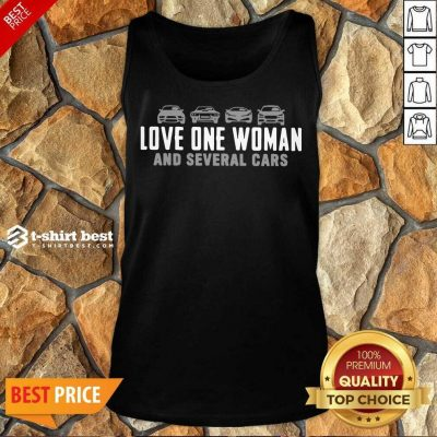 Love One Woman And 1 Several Cars Tank Top - Design by T-shirtbest.com