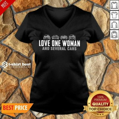 Love One Woman And 1 Several Cars V-neck - Design by T-shirtbest.com
