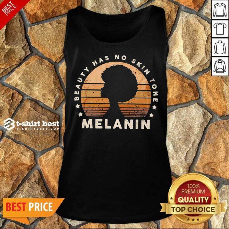 Melanin Beauty Has No 3 Skin Tone Vintage Tank Top - Design by T-shirtbest.com