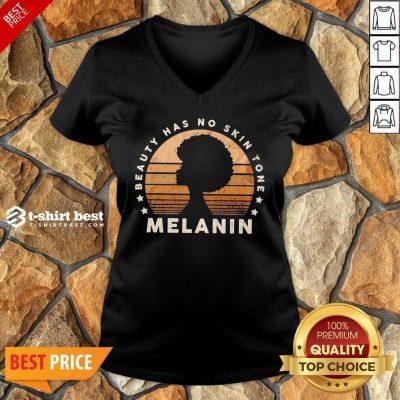 Melanin Beauty Has No 3 Skin Tone Vintage V-neck - Design by T-shirtbest.com