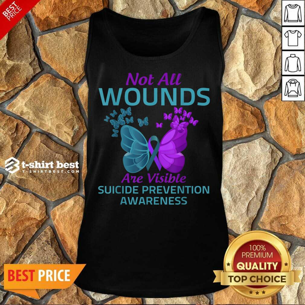 Not All Wounds Are Visible Suicide 7 Awareness Tank Top - Design by T-shirtbest.com