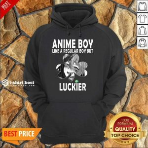 St Patricks Day Anime Boy 7 Shamrock Aesthetic Hoodie - Design by T-shirtbest.com