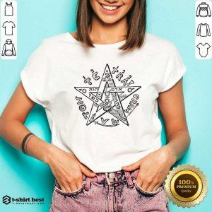 Tetragrammatron 4 V-neck - Design by T-shirtbest.com
