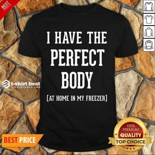 Nice I Have The Perfect Body At Home In My Freezer Shirt
