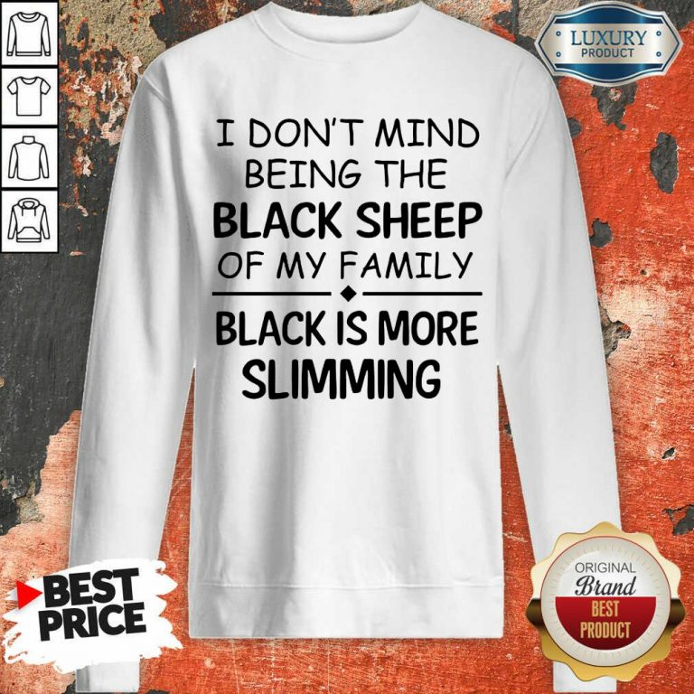 Being The Black Sheep Slimming Sweatshirt