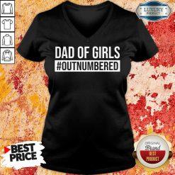 Dad Of Girls Outnumbered V-neck