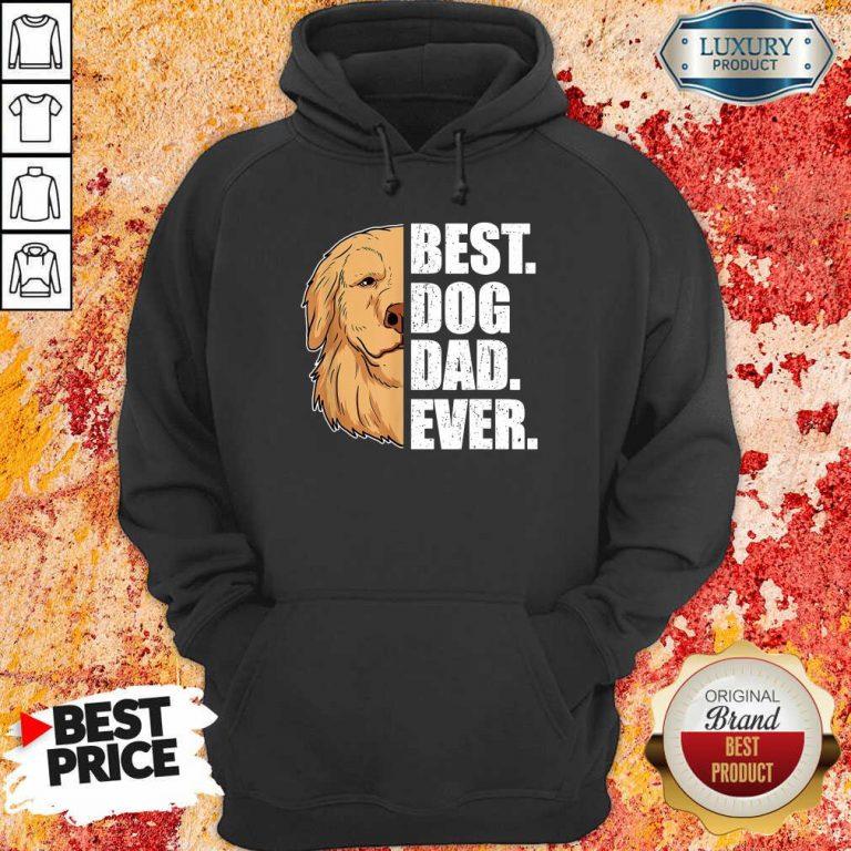 Golden Retriever Best Dog Dad Ever Hoodie