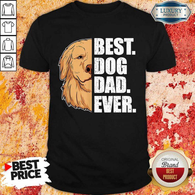 Golden Retriever Best Dog Dad Ever Shirt