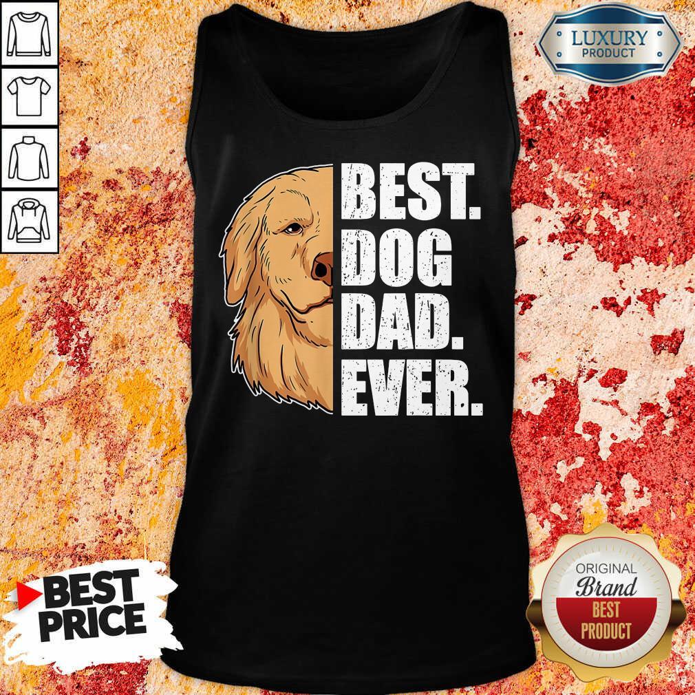 Golden Retriever Best Dog Dad Ever Tank Top