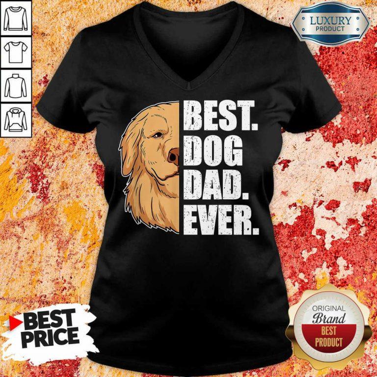 Golden Retriever Best Dog Dad Ever V-neck