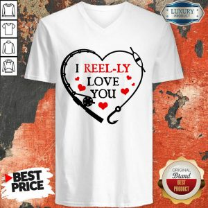 I Reel Ly Love You Valentine V-neck