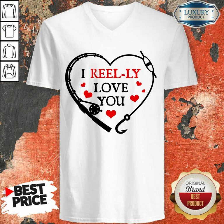I Reel Ly Love You Valentine V-neck