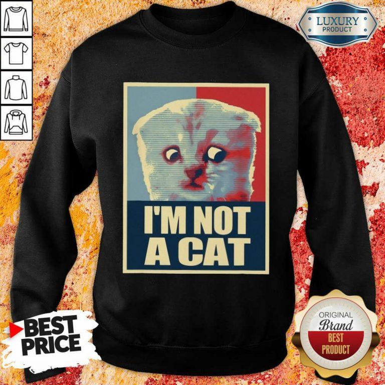I'm Not A Cat Sweatshirt
