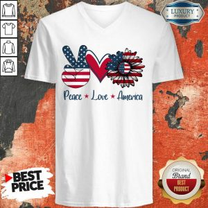 Peace Love America V-neck