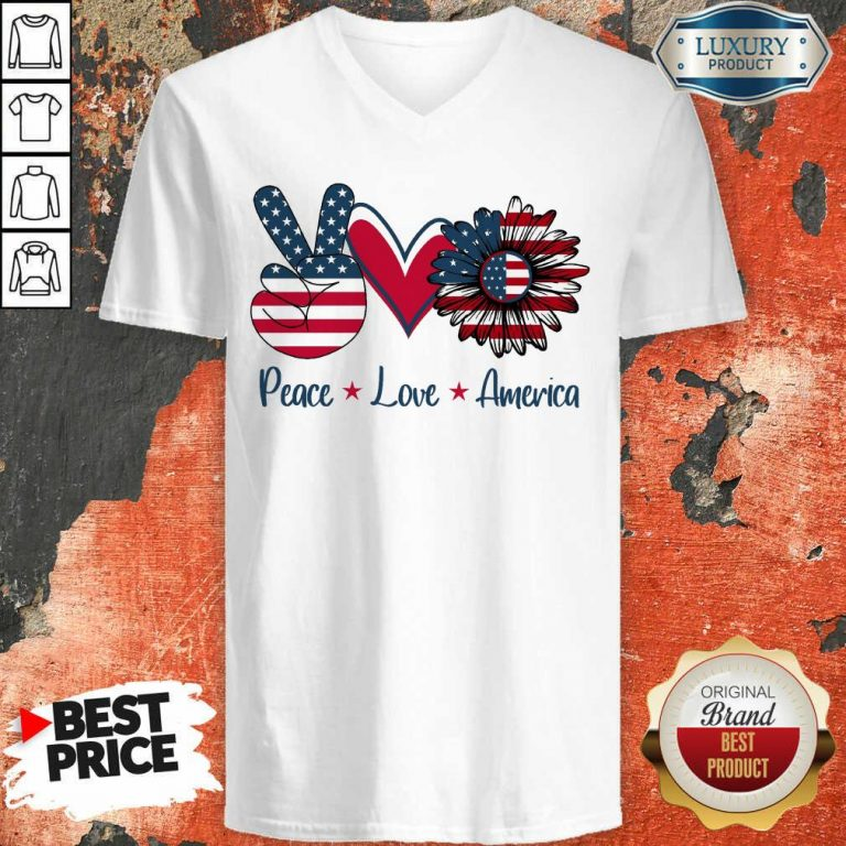 Peace Love America V-neck