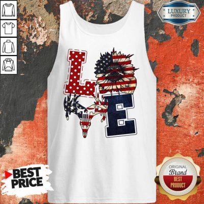 Sunflower Love American Flag Tank Top