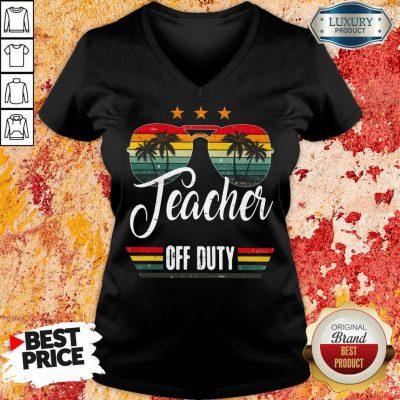 Teacher Off Duty V-neck