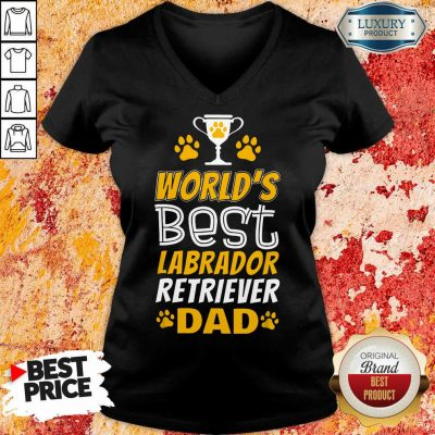 World's Best Labrador Retriever Dad V-neck